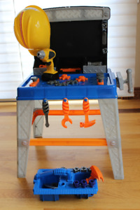 Plastic Tool Bench with Tools