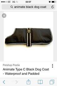 "£12 animate new 14"" puppy dog coat warm wind proof waterproof"