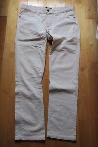 Pantalon corduroy blanc taille 32-34