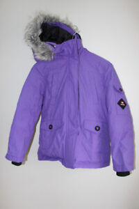 Girl's down filled winter coat - size 7