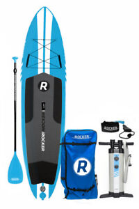 iROCKER ALL-AROUND 11′ x 32″ Wide Inflatable SUP Package-BRAND N