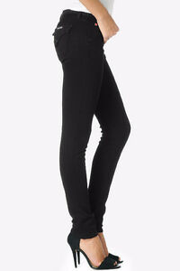 "HUDSON High Rise ""CARLY"" STRAIGHT LEG JEANS Black Ice, Size 26 London Ontario image 3"