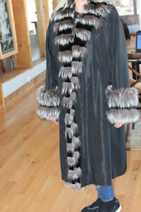 Black COAT Pelisse SIZE 12 Like NEW, worn once!