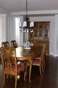 Dining Table Set with Hutch and Server - Mint condition $3000 ob