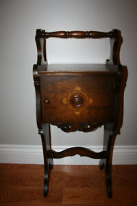 Vintage Small Side Table/ Smokers's Stand