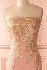 Pink and Gold Prom/Grad Dress