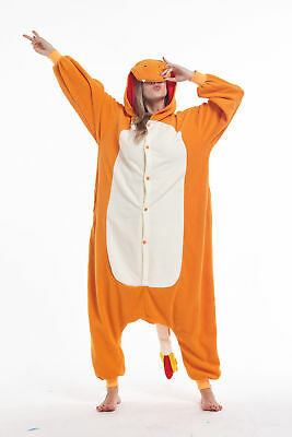 Women Men Unisex Adult Onesie0 Animal Charmander Kigurumi Pajama Cosplay Costume