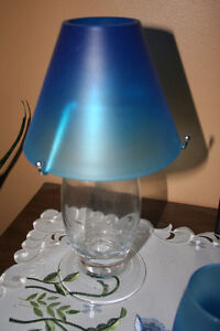 Ocean Blue Candle Lamp