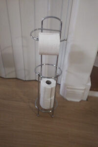 Stainless Steel Four Roll Toilet Paper Stand