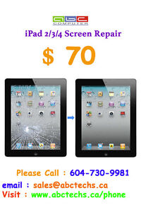 iPad Screen Replacements and Repairs from $70