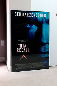"TOTAL RECALL FRAMED MOVIE POSTER 27""x 40"" SCHWARZENEGGER"