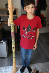 """60"""" didgeridoo for sale. light colour with beautiful detail"""