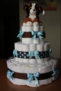 Diaper Cake for Baby Boy ready for pick up