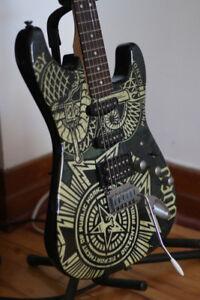 Guitare Fender Squier Stratocaster Obey édition limitée