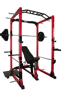 Power Rack / Bench & Rubber Weight Set - NEW w/ Free Shipping