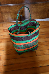 Woven Recycled Plastic Basket / Tote Bag