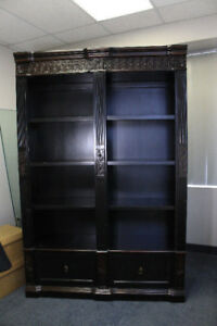 FS: Coaster Nicolas Black / Espresso Carved Combination Bookcase