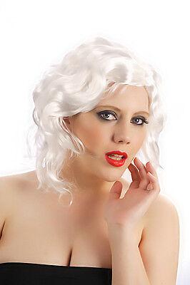 Hallowe Women White Deluxe Marilyn Monroe Hollywood Wig Fancy Dress Hair (Hallowe Kostüme)