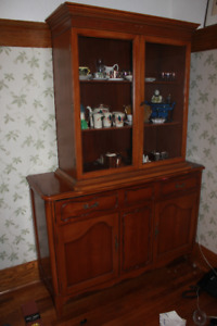 Cherry sideboard with free china cabinet