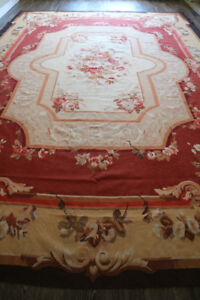 ANTIQUE VINTAGE FRENCH AUBUSSON RUG PALACE SIZE