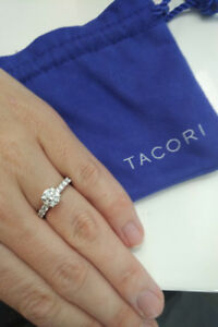 TACORI 18k White Gold 1.28 ct Diamond Engagement Ring - WOW!