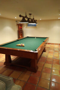 Brunswick 6 x 12 Snooker Pool table with accessories and cover