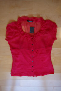 NEW WITH TAGS Tahari 100% Silk Blouse & Camisole (ret. 168 USD)