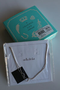 Stella & Dot 30 inch faceted ball chain in silver colour