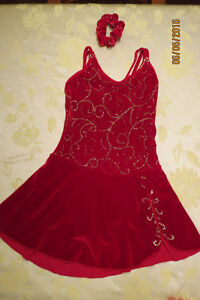 Beautiful red dress for skating or dance