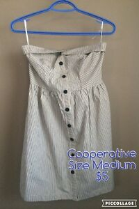 Cooperative strapless dress