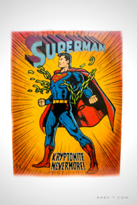 Marvel-collectible-paintings-artworks-statues-SUPERMAN-KRYPTONIT