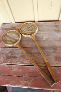 Pair of Old Squash Rackets