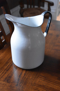 Early Metal Water Pitcher-  No Rust