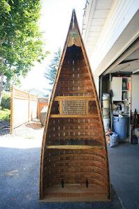 Original Vintage Wood Canoe Book Shelf
