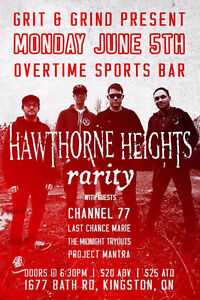 Hawthorne Heights & Rarity at Overtime Sports Bar