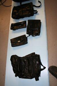 NEW - Leather Jacket, saddle bags, 6 Piece-Matching