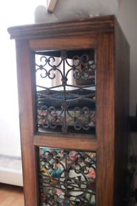 Antique Bookshelf Solid wood and metal