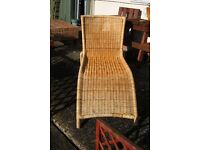Cane sun lounger - garden furniture