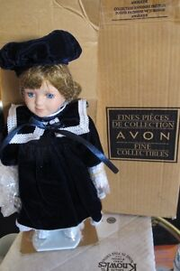 avon collectible victorian skater doll