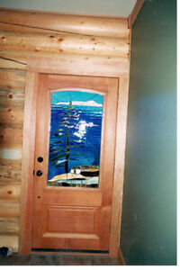 Magnificent Stained Glass Door