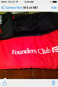 GOLF BALLS; FOUNDERS CLUB GOLF BAG