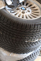 Set of 4 BMW 5 serious winter tires (225/55 R16) with Alloy Rims