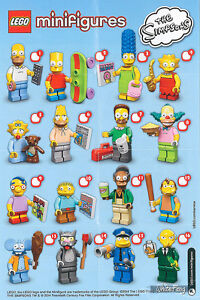 Lego The Simpsons - Series 1 Minfigures - 71005 - Full set of 16