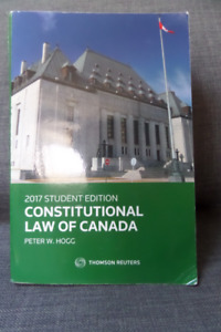 2017 Constitutional Law of Canada- Hogg