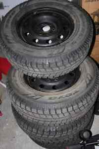 245-70 R17 Toyo GSI-5 winter tires on steel rims