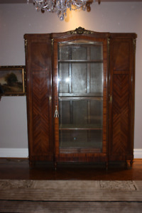 Antique French armoire/display cabinet