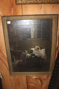Old Framed Picture of a Mother and Child London Ontario image 1
