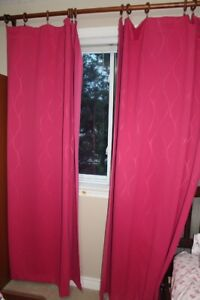 2 black out panel curtains, for girl's room