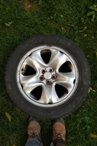 4 Subaru Forester/ Crosstrek snow tires on rims. 225 55 R17