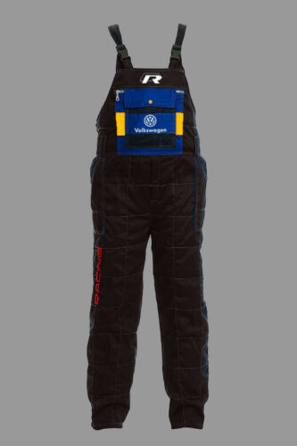 Mens Volkswagen R Motorsport Mechanics Pants, Workwear bib pants, Racing Apparel